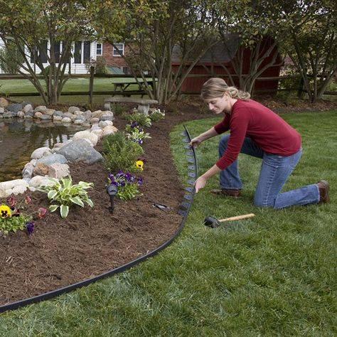 Бордюрная лента для сада: фото с идеями оформления дорожек, грядок, клумб и цветников