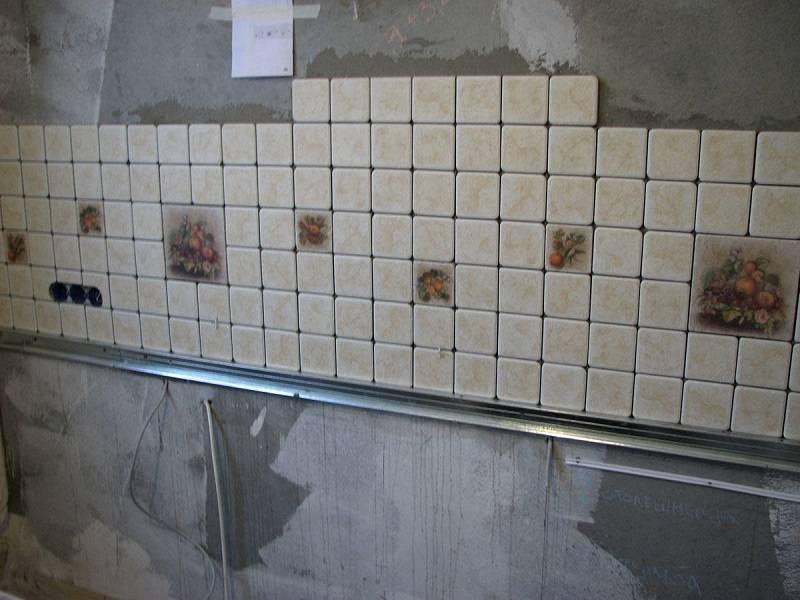 Кладем плитку на фартук кухни правильно - инструкция с фото и видео