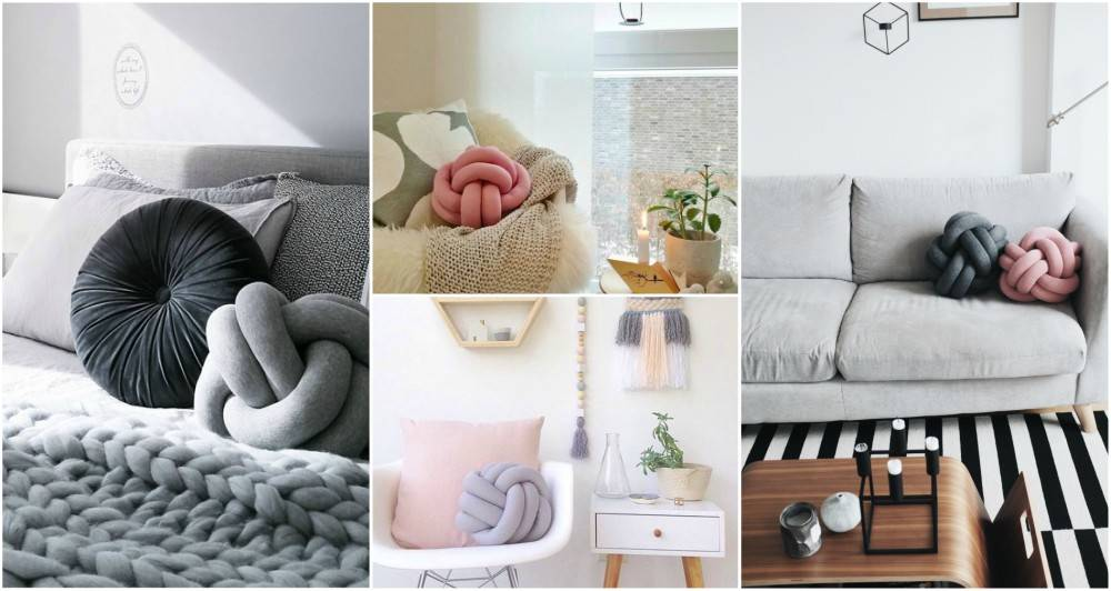 Стильная подушка-узел своими руками - сделайте свою квартиру более современной