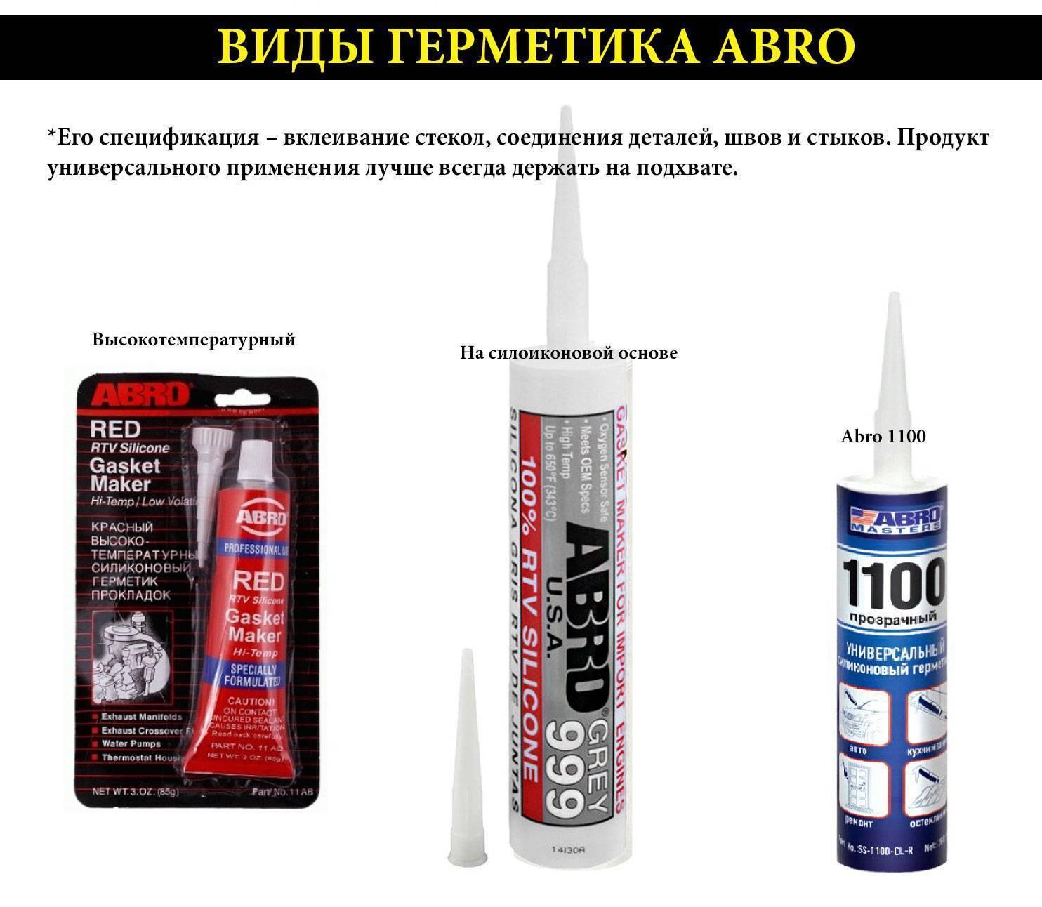 Термостойкие герметики: свойства и сфера применения