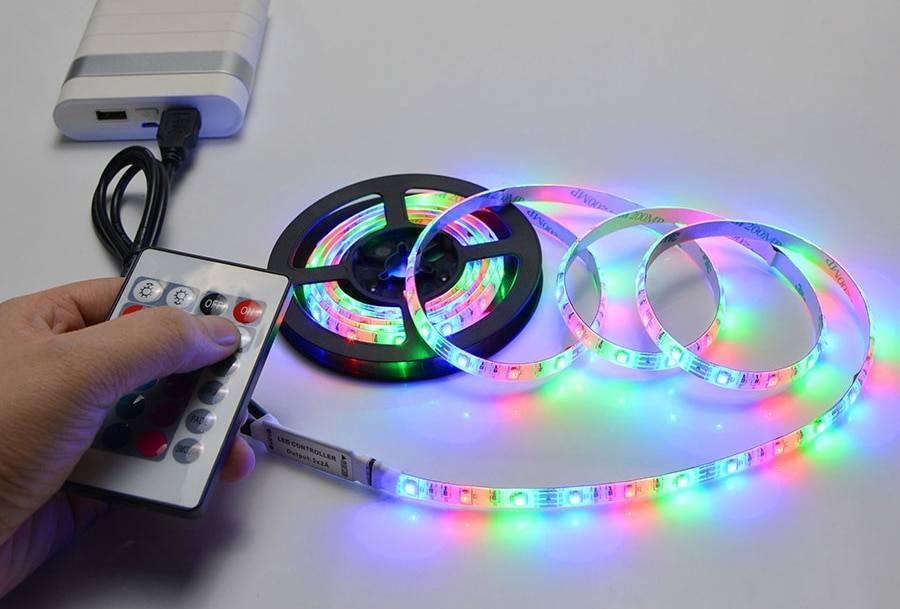 Схема подключения rgb светодиодной ленты: как подключить цветную ргб ленту с контроллером и без него