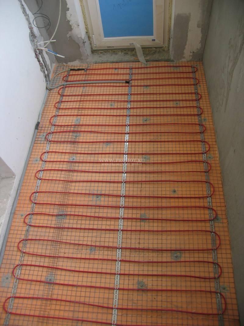 Теплый пол на балконе и лоджии: инструкция по устройству своими руками