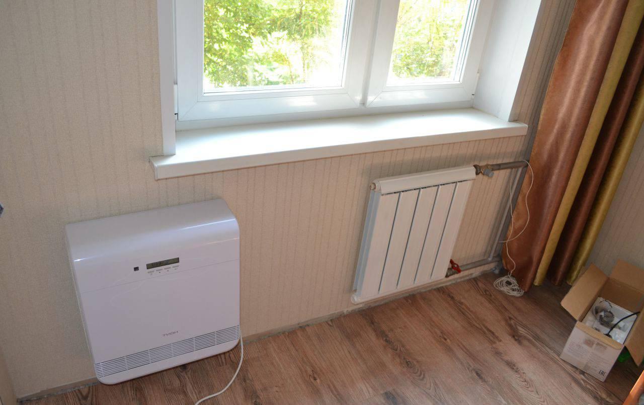 Приточная вентиляционная установка с подогревом воздуха в квартиру, для офисов и промышленной вентиляции
