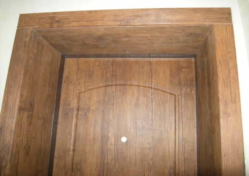 Отделка дверного проема без двери панелями мдф