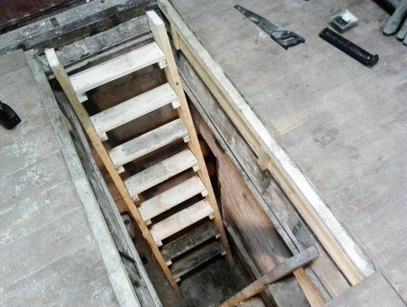 Как изготовить своими руками лестницу в погреб