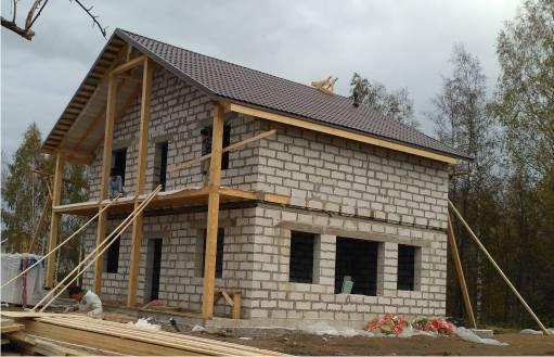 Внутренняя отделка стен дома из газобетона, газосиликатных блоков, примеры отделки, фото