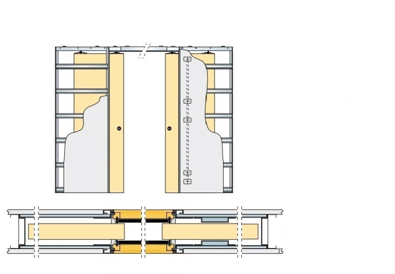 Раздвижные двери в квартиру из поликарбоната своими руками
