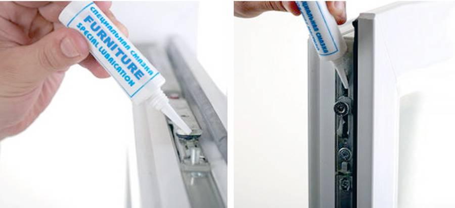 Как смазывать пластиковые окна: узнай как правильно самостоятельно обработать все механизмы: уплотнители, фурнитуру, петли и замки своими руками