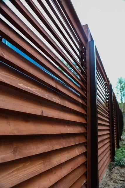 Забор жалюзи металлические своими руками - фото