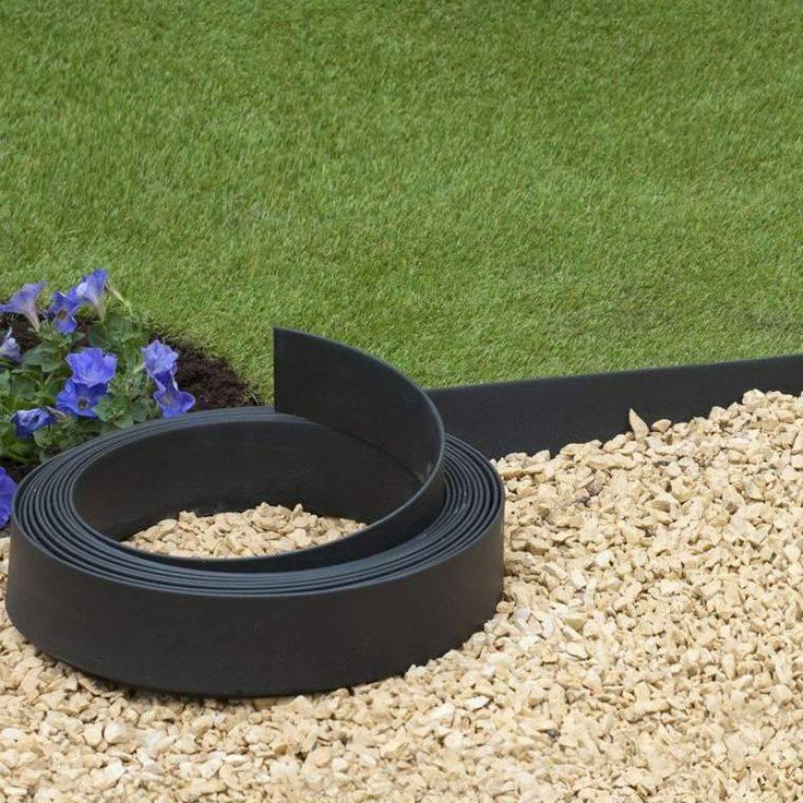Бордюрные ленты (55 фото): для грядок и садовые для клумб и газонов. как правильно их установить? бордюры для дорожек и колышки для них