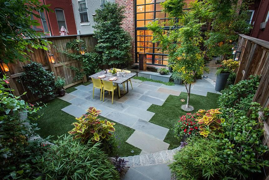 Дизайн двора частного дома - волшебное преображение дачного участка (фото)