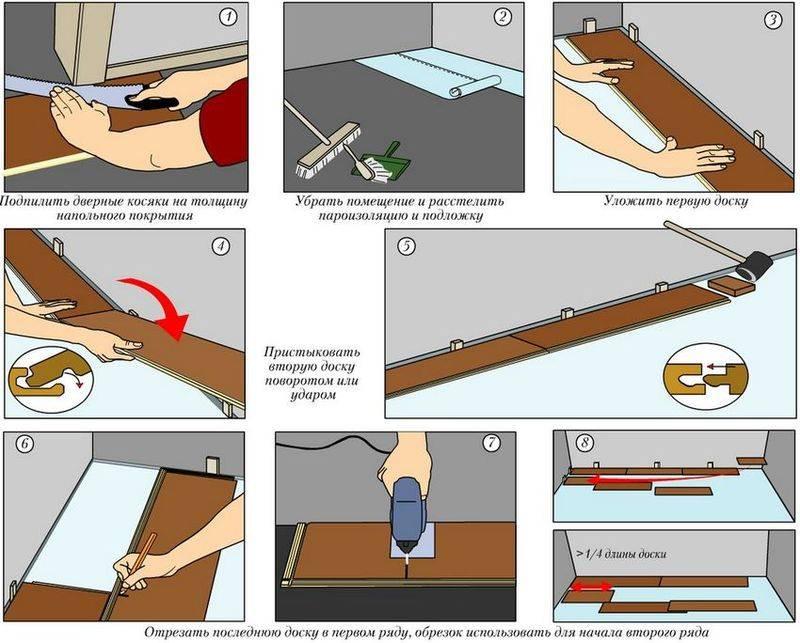 Как правильно уложить линолеум: способы и пошаговая технология укладки линолеума своими руками
