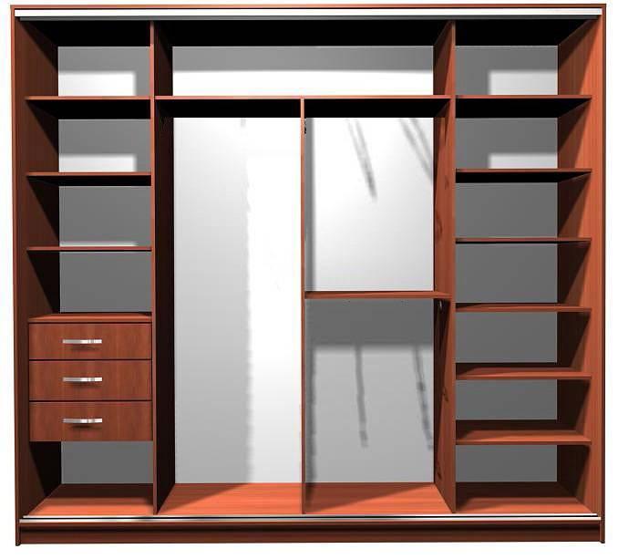 Планировка шкафа-купе (37 фото): внутри с размерами, схемы, варианты встроенные в прихожую, для спальни, программы и онлайн-конструкторы