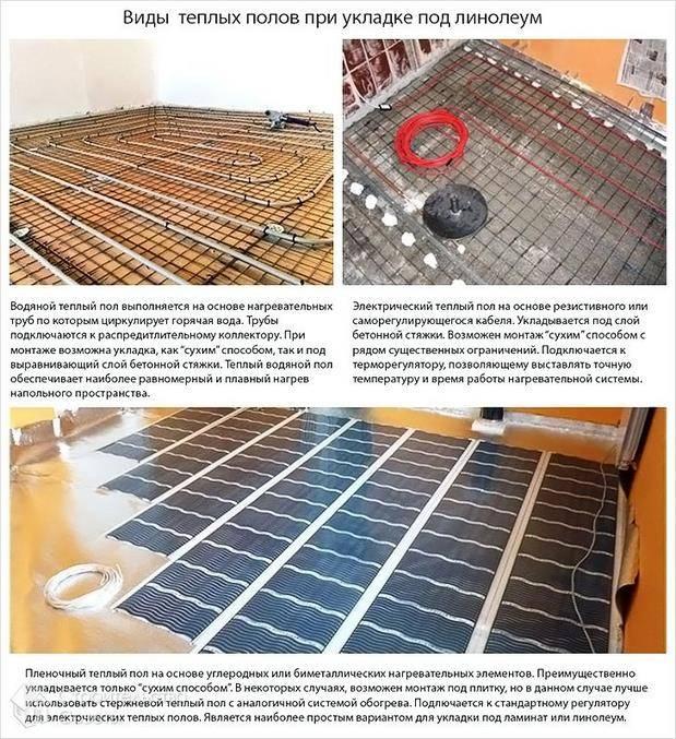 Плёночный тёплый пол под линолеум: порядок подготовки основания, монтаж и эксплуатация без ошибок