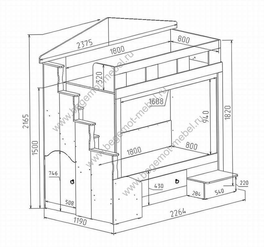 Как сделать двухъярусную кровать своими руками: инструкция