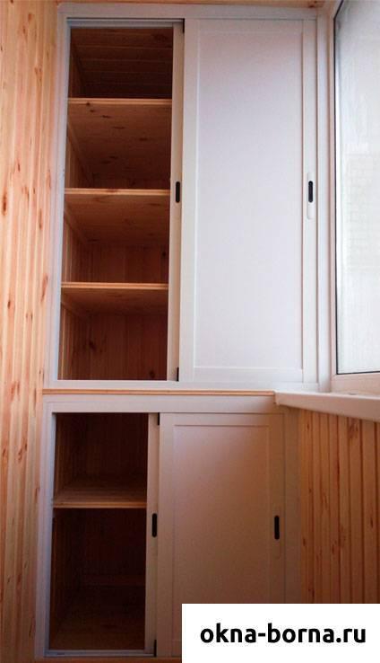Шкаф на балкон, виды и характеристики - фото примеров