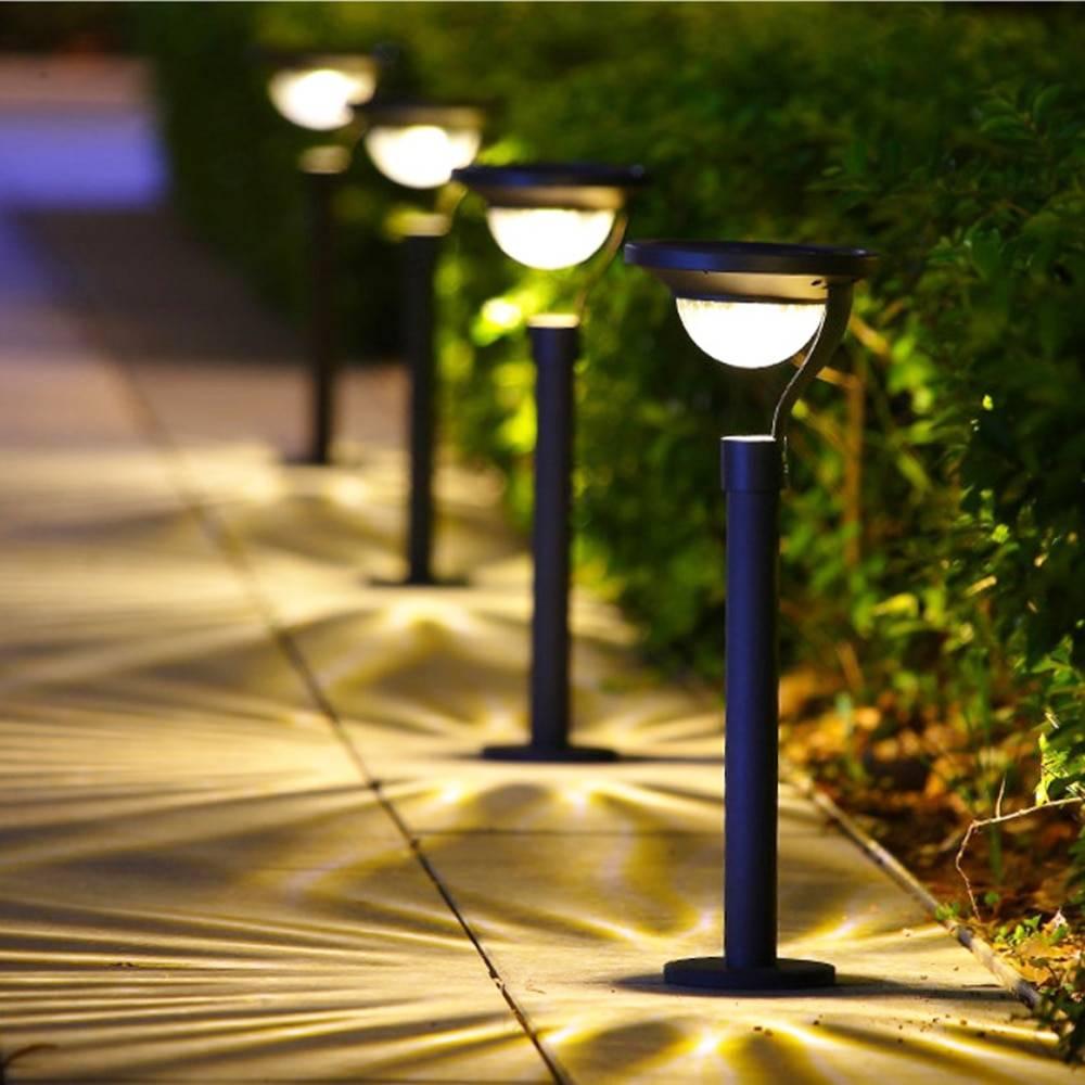 Светильники на солнечных батареях для подсветки участка