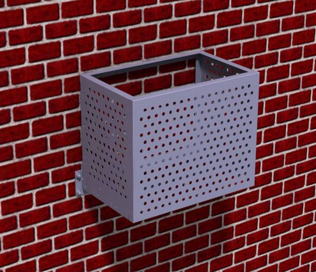 Декоративные решетки и чехлы для кондиционеров на фасад: размеры и монтаж