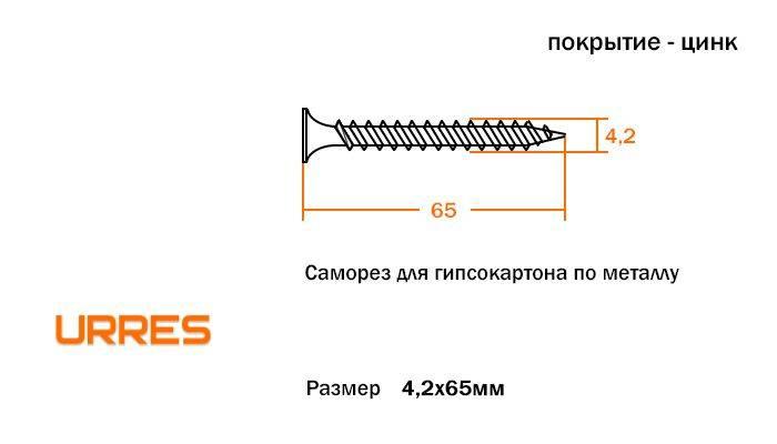 Универсальный саморез: оцинкованные саморезы шуц 6х40 и 4х40, 5х40 и 4х16, другие размеры, гост