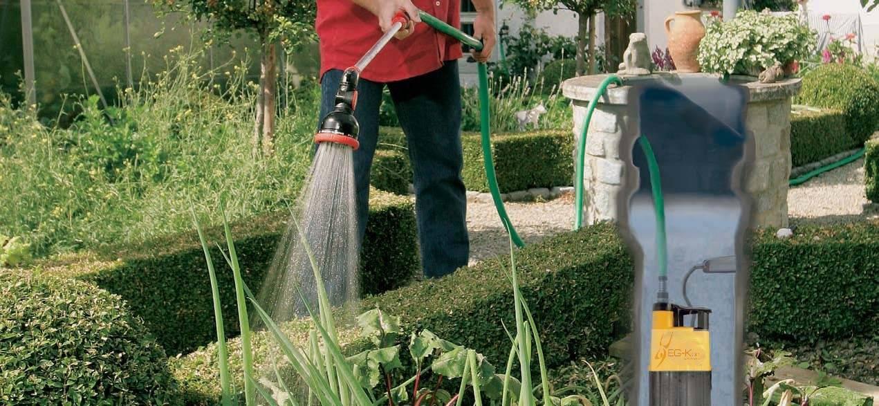 Полив огорода насосом из скважины
