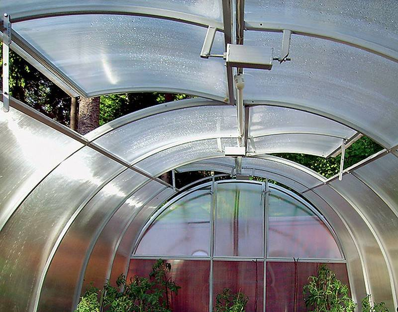 Вентиляция теплицы с автоматическим проветриванием, механизм, схема
