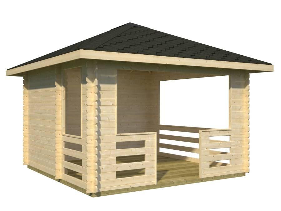 Как сделать деревянную беседку своими руками: закладка столбчатого фундамента, возведение каркаса и крыши беседки.