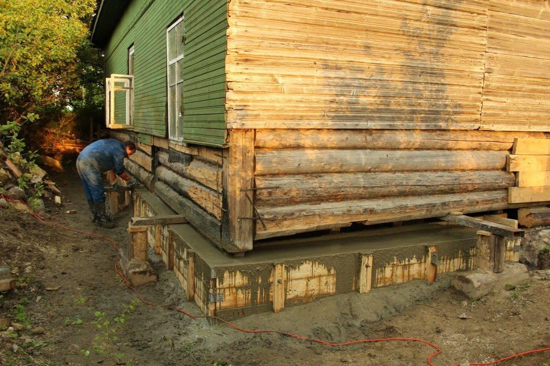 Как подвести фундамент под старый деревянный дом своими руками: пошаговая инструкция