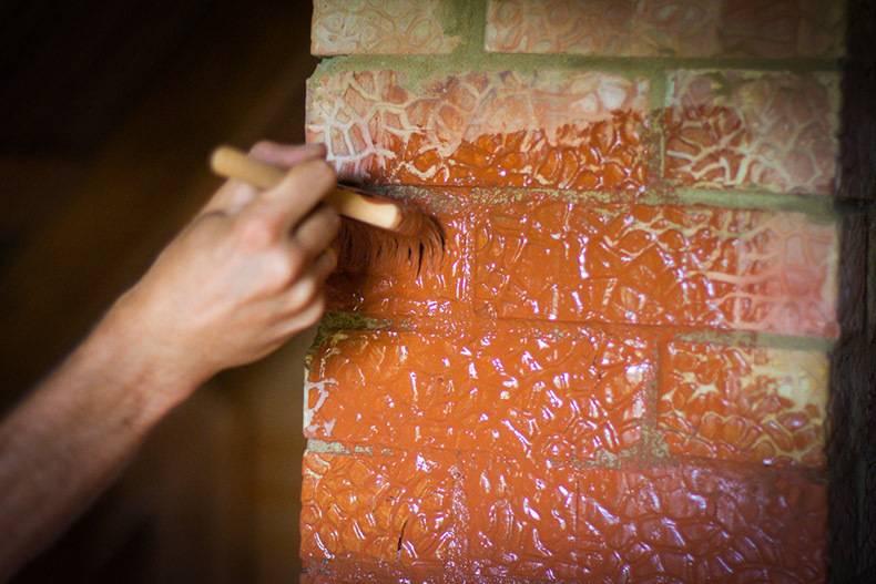 Чем можно покрасить кирпичную печь в доме