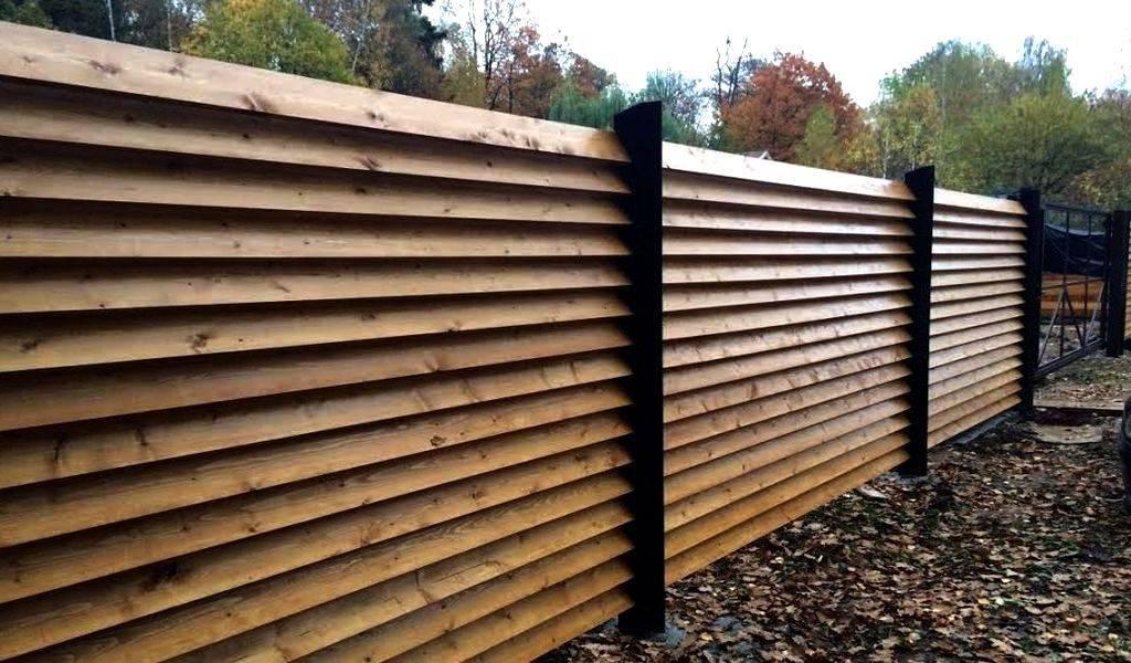 Забор-жалюзи металлический — как создать красивое ограждение