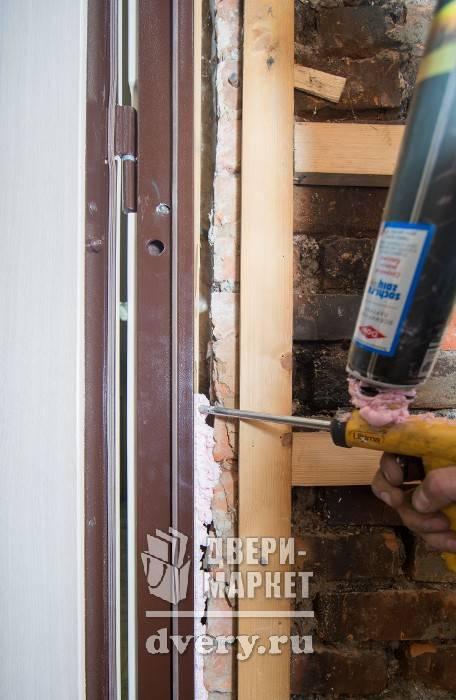 Как поставить металлическую дверь своими руками - клуб мастеров