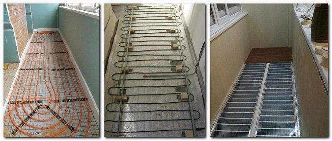 Теплый пол на балконе (лоджии) под плитку своими руками