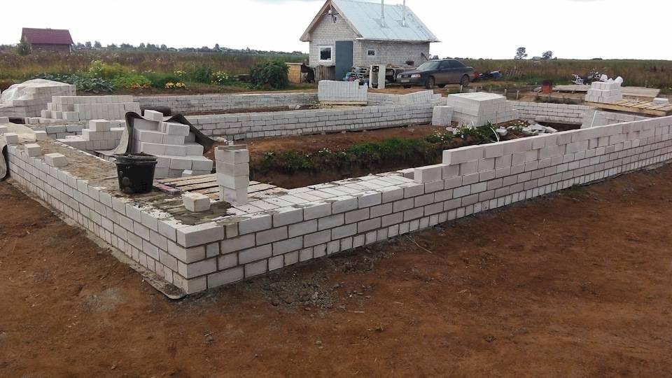 Цоколь из кирпича на ленточный фундамент строительство и ремонт фундамента