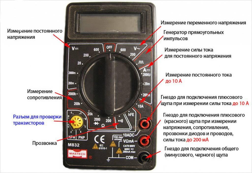 Как проверить ток в розетке мультиметром