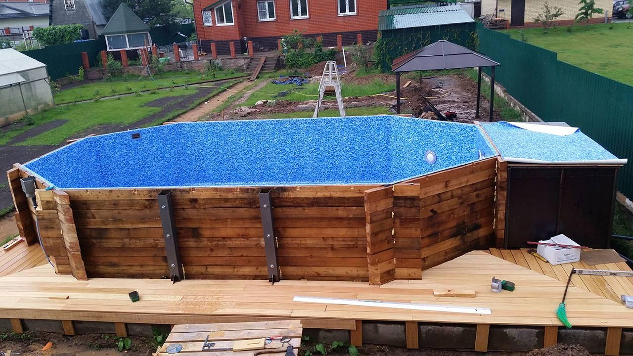 Каркасный бассейн (68 фото): морозоустойчивые модели, размеры. как сделать своими руками? сборные и круглые, детские и взрослые, отделка