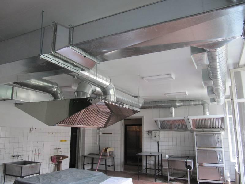 Кафе вентиляция, проектирование вытяжки с отводом, обслуживание