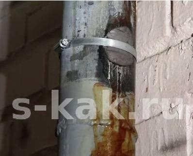 Как и чем заделать трещину в чугунной канализационной трубе, в пластиковой, стальной и гофрированной, в коллекторах водопровода и отопления без сварки
