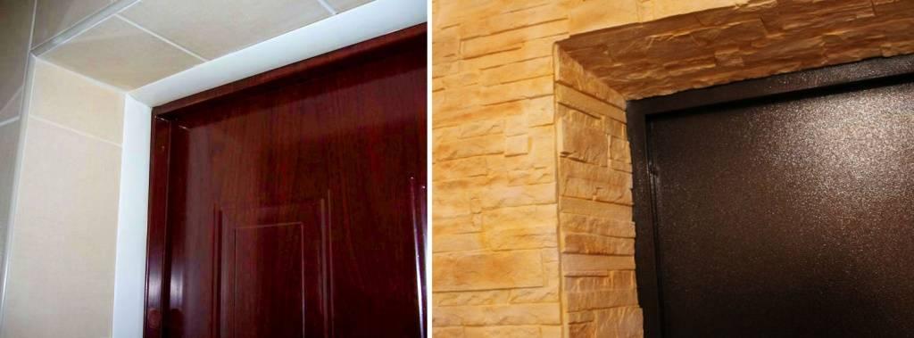 Отделка откосов дверей: особенности, материалы, технология