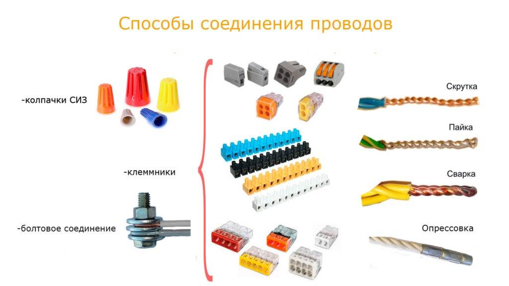Соединение проводов: как соединить между собой медный и алюминиевый провод, какие бывают клеммники для многожильных и одножильных проводов, варианты крепления с пайкой и без нее