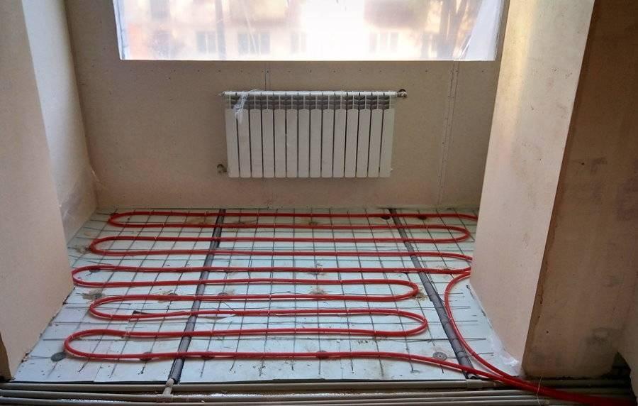 Варианты устройства теплого пола на балконе или лоджии
