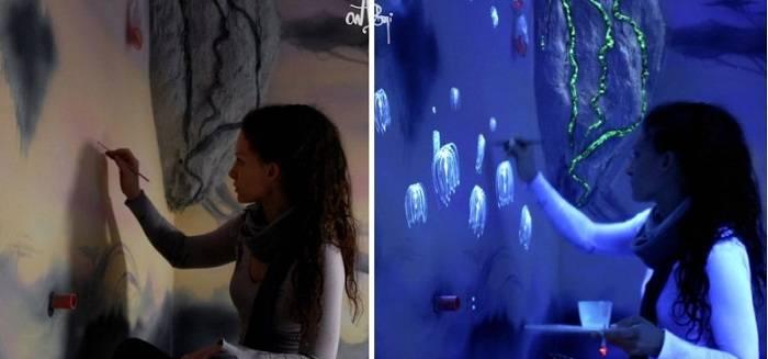 Решили сделать светящиеся стены: выглядит круто, а мужу не нравится! - stroyday.ru