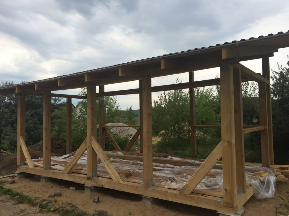 Беседка с односкатной крышей своими руками - план строительства (+фото, схемы)