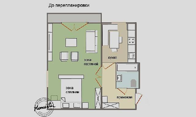 Перепланировка студии в однокомнатную или двухкомнатную квартиру