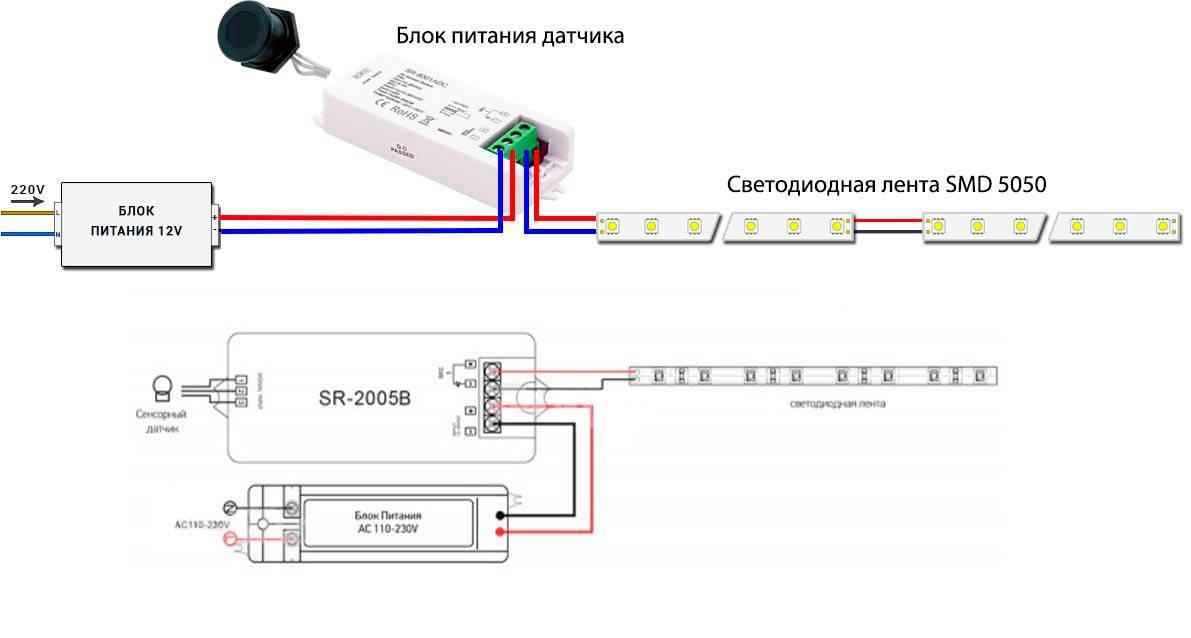 Как подключить rgb led ленту к контроллеру и блоку питания