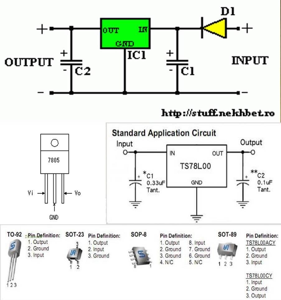 Схема стабилизатора напряжения на 12 вольт | микросхема