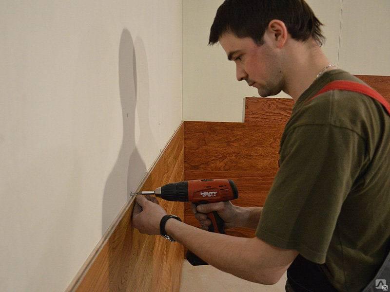 Ламинат на стену: способы крепления, отделка стен ламинатом, пошаговый процесс