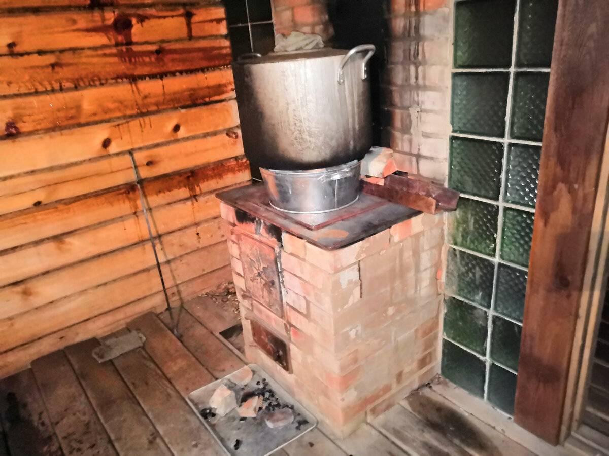 Как сделать кирпичную печь в баню с баком для воды своими руками