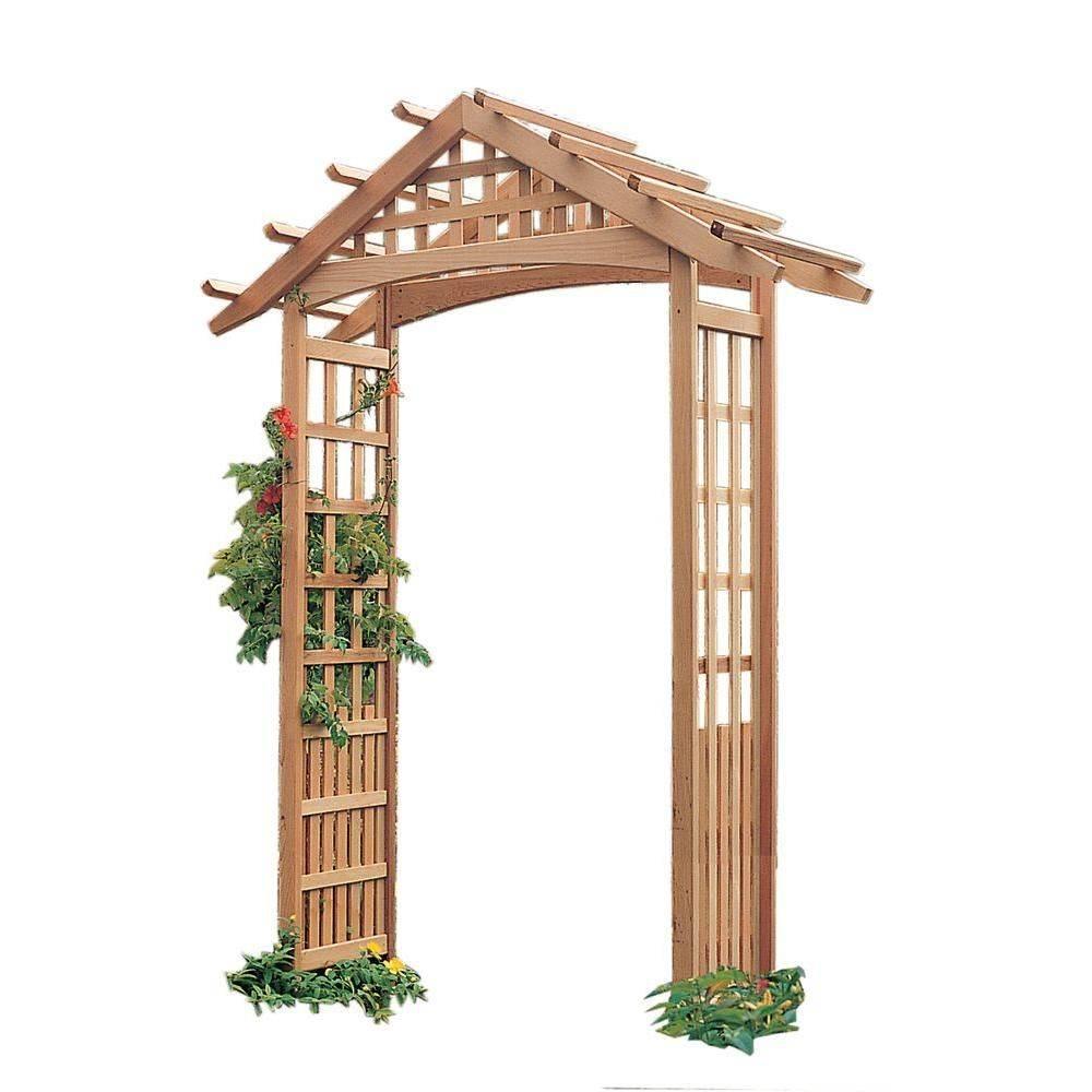 Арки, перголы и шпалеры для вьющихся растений: используемые материалы, изготовление конструкций своими руками