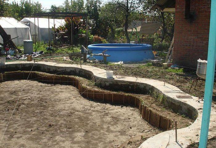 Строительство крытого бассейна на дачном участке   housedb.ru