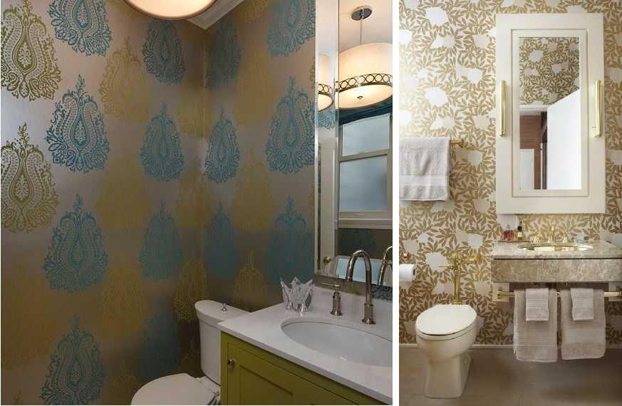 Обои для ванной комнаты (73 фото): влагостойкие моющие самоклеющиеся настенные покрытия, какие можно клеить изделия в помещение и отзывы профессионалов