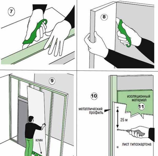 Перегородка из гипсокартона: пошаговая инструкция как сделать монтаж своими руками   (фото & видео)